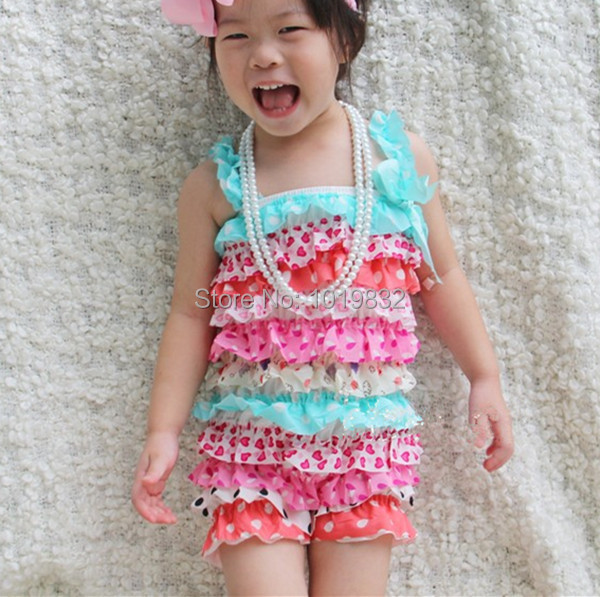 16026555130c Baby Girl Easter Romper Aqua Pink Polka Dot Petti Rompers Baby Easter  Outfit Toddler Outfit Jumpsuit Baby-in Rompers from Mother   Kids on  Aliexpress.com ...