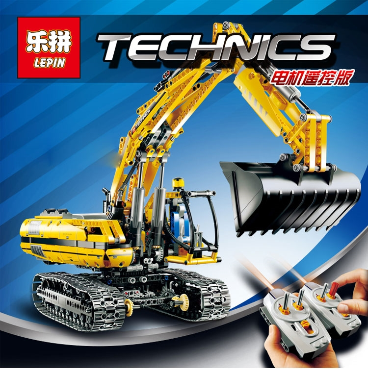LEPIN 20007 technic series excavator Model Building blocks Bricks Compatible Toy Christmas LegoINGlys 8043 Educational Car 39607h c1909a new tab cof module