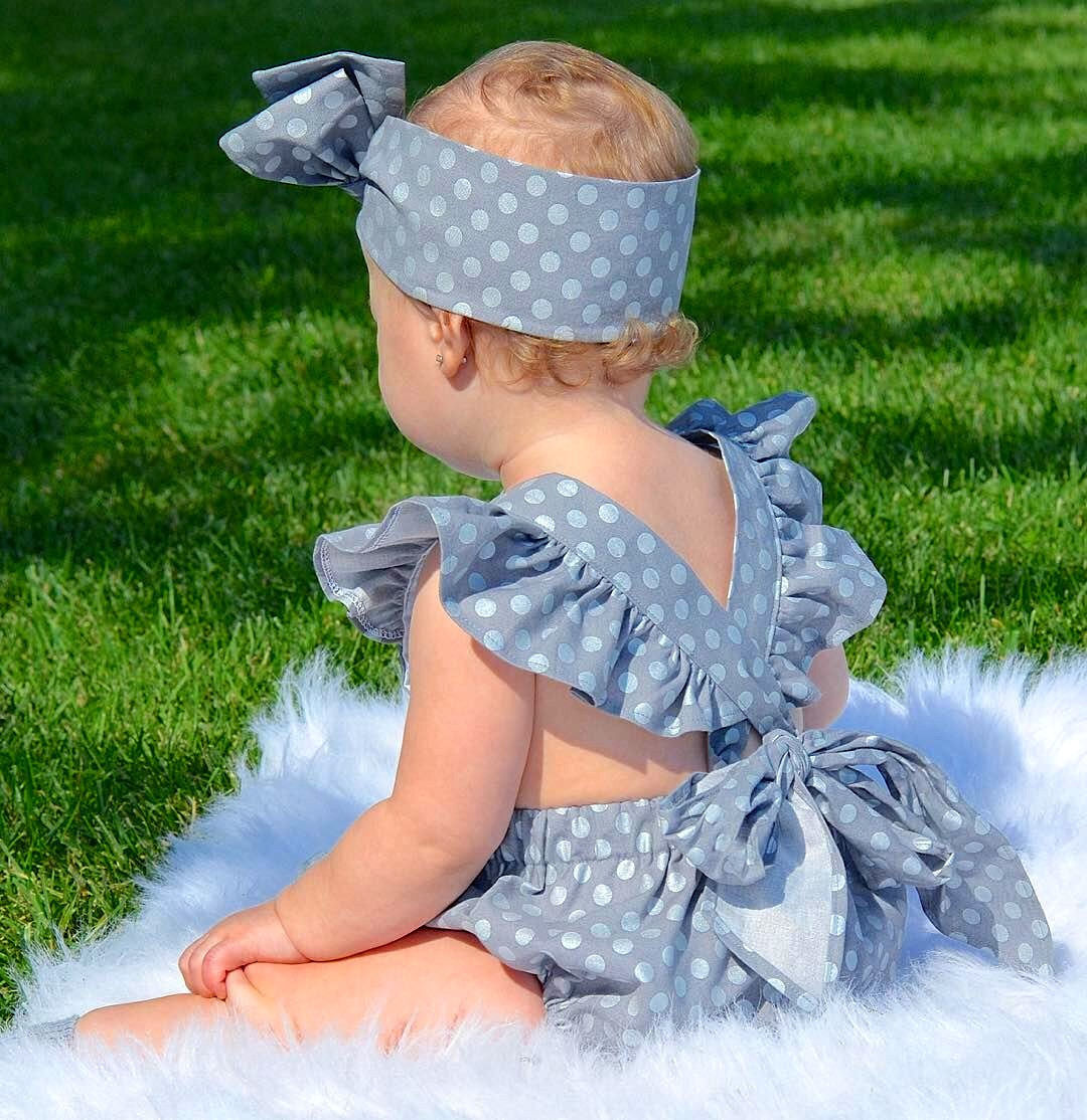 Newborn-Baby-Girls-Clothes-Polka-Dot-Baby-girl-Romper-headband-Jumpsuit-Sunsuit-Summer-baby-clothing-1