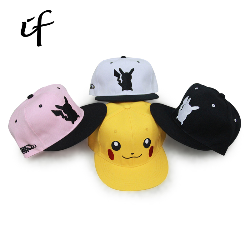 Pokemon Go Cosplay Cap Adult Kids Bone Masculino Hip Hop Dad Pikachu Pocket Hat Drake Baseball Ash Ketchum Cap Snapback Gorro new cartoon pikachu cosplay cap black novelty anime pocket monster ladies dress pokemon go hat charms costume props baseball cap