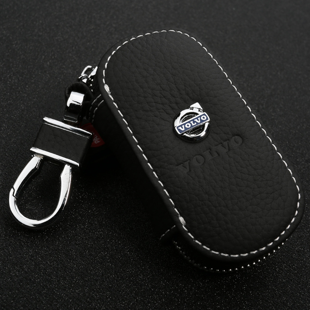 2016 New luxurious Design Auto Key Wallet For Volvo Fashion Leather Car auto KeyChain Key Case Key Bag Holder Gift Packa