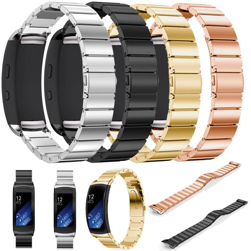 Fahison Luxury metal watchband Stainless Steel Bracelet Smart Watch Band Strap For Samsung Gear Fit 2 R360