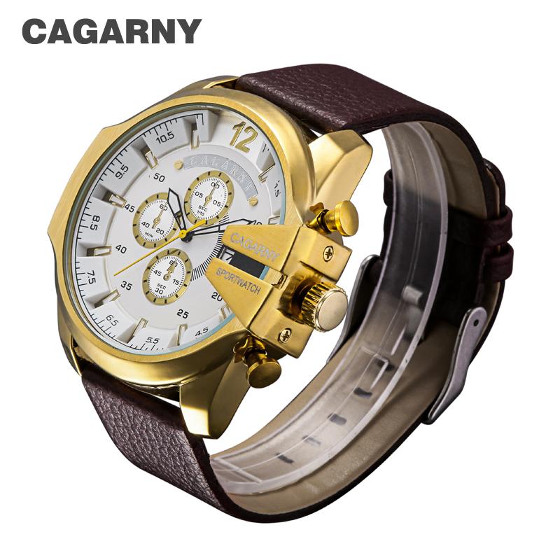 cagarny dz style quartz watch men golden mens watches (11)