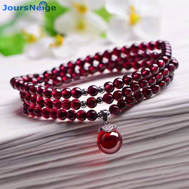 Оптовая продажа, натуральные гранатовые браслеты, винно Красные Подвески из бусин, браслет с подвеской, подарок для женщин, многослойные украшения|garnet bracelet|pendant braceletbracelet lucky | АлиЭкспресс