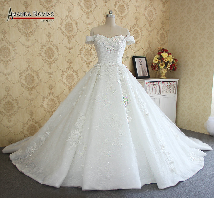 2017 amanda novias real photos high quality brand wedding for Designer brand wedding dresses