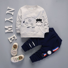IENENS Spring Autumn Children Kids Boys Boy Outfits Suits Baby Toddler Clothing Sets Cotton Clothes Long Sleeves T-shirt + Pants children clothing sets baby kids boy hoodie pure cotton long sleeve streetwear style clothing printing suits boys sweater black