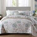 Качественное покрывало с принтом, пододеяльник, комплект из 3 предметов, стеганое одеяло, хлопковые стеганые одеяла, покрывало для кровати, ...