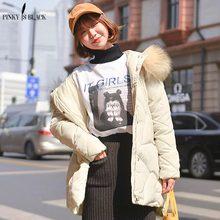 PinkyIsBlack Large Fur Hooded Winter Jacket Women Long Parkas 2019 New Womens Coat Outerwear Female