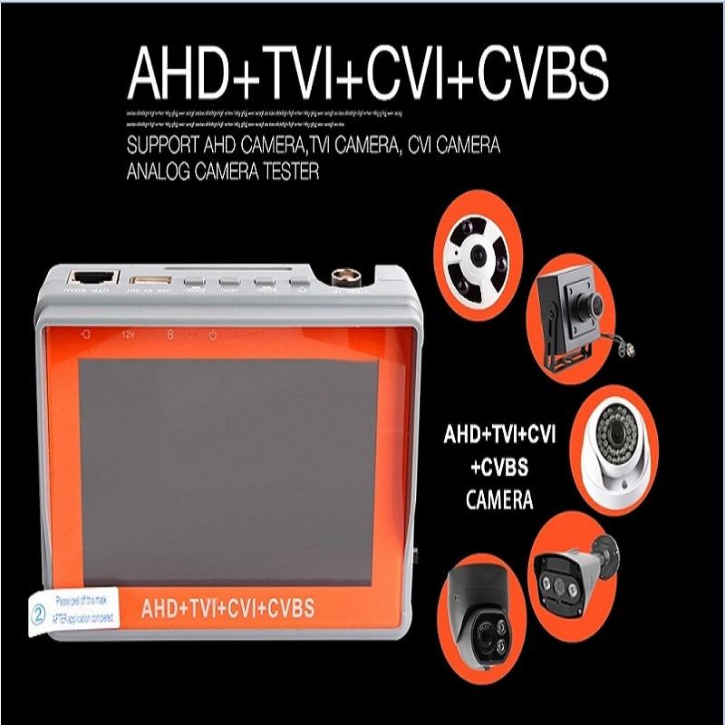 Promotion 4.3 inch four in one HD CCTV tester monitor AHD CVI TVI CVBS analog cameras testing 1080P 960P 720P PTZ audio 12V