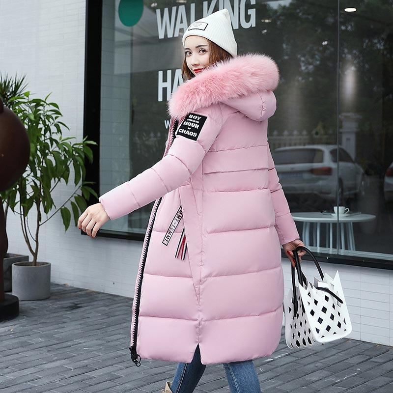 Jacket Coat Parkas Warm Winter Female Plus-Size Fashion Solid Zipper Cotton Women