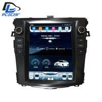 32G rom вертикальный экран android автомобильный gps мультимедийный видео радио плеер в тире для Тойота торолла аурис 2007 2012 автомобиля navigaton