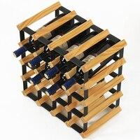 20 бутылок роскошный деревянный бар виноград Держатели вина Бытовая Винный Стеллаж Ресторан дубовая деревянная для красного вина подставка
