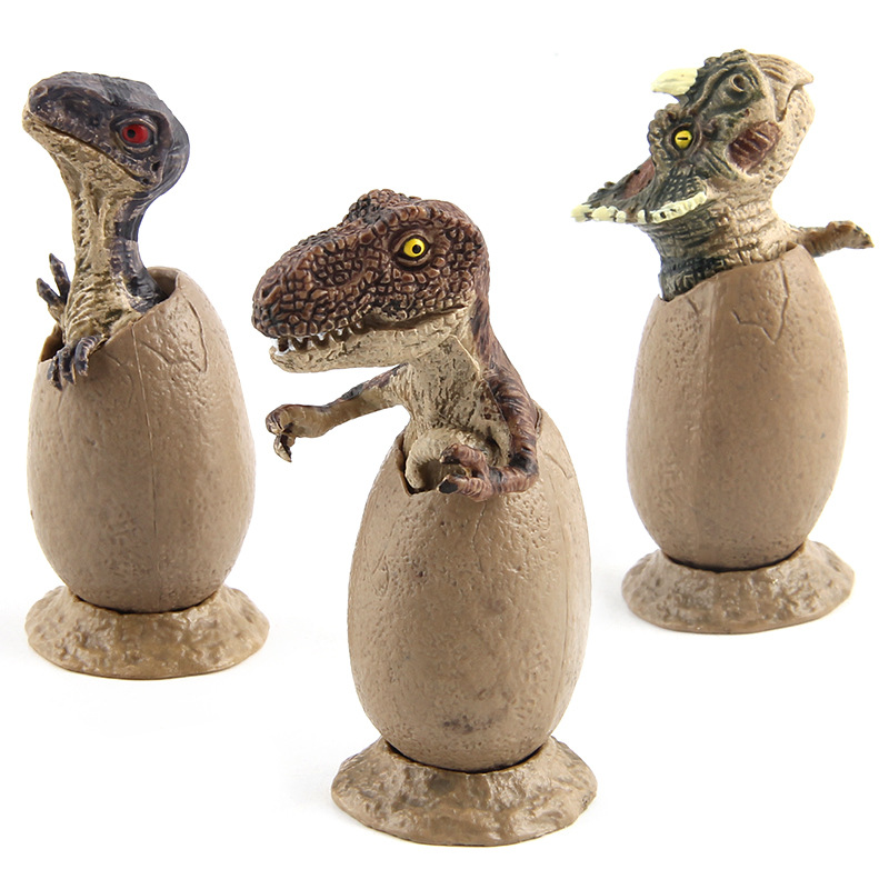 3pcs/Lot Dinosaurs Eggs Hatch Dinosaurs Figure Models Table Ornament Kids Xmas Gift