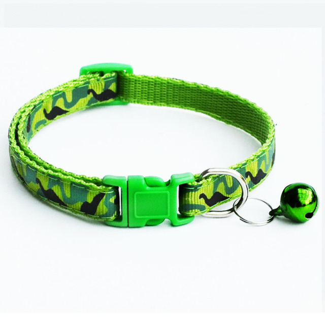 Delicate Safety Casual Nylon Dog Collar Neck Strap Fashion Adjustable Camo Bell Pet Dog Collar Hot Sale 3