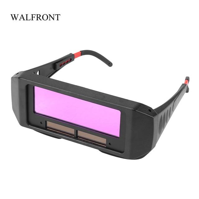 ebe73c94e0 WALFRONT Solar Auto oscurecimiento soldadura casco ojos Protector soldador  gorra gafas máquina cortador Máscara de Soldadura