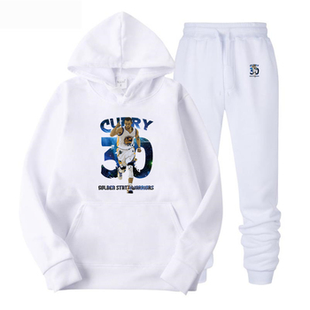 USA Basketball sports Hoodies printing jersey Stephen Curry training suit Hooded loose hooded long-sleeved Sweatshirt+pants 3