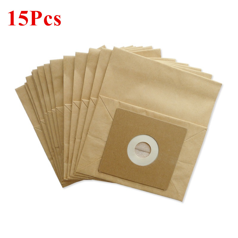 15pcs Vacuum Cleaner Dust Paper Bags 100*110mm Diameter 50mm For Vacuum Cleaner Philips Electrolux LG Haier Etc. Accessories