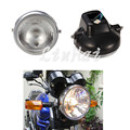 "7"" Back Cover Round  housing Motorcycle Headlight Fit For Yamaha YBR125 YBR 125 2002-2013 03 04 05 06 07 08 09 10 11 12"