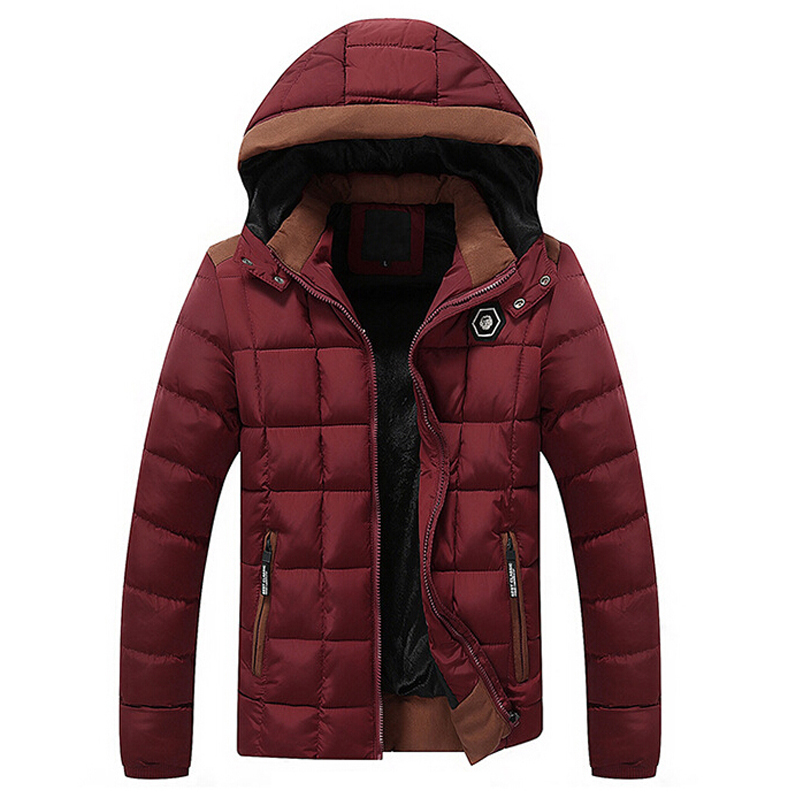 New Brand Winter Jacket Men Velvet Thicken Cotton Coat Mens Casual Warm parka jaqueta masculina Casaco Removable Hooded Jackets
