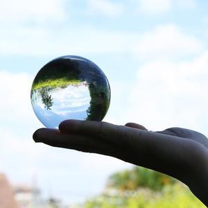 Image 1 - 50mm/80mm Crystal Ball Quartz Glass Transparent Ball Spheres Glass Ball Photography Balls Crystal Craft Decor Feng Shui