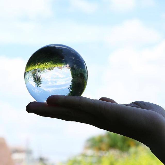 50mm/80mm Crystal Ball Quartz Glass Transparent Ball Spheres Glass Ball Photography Balls Crystal Craft Decor Feng Shui