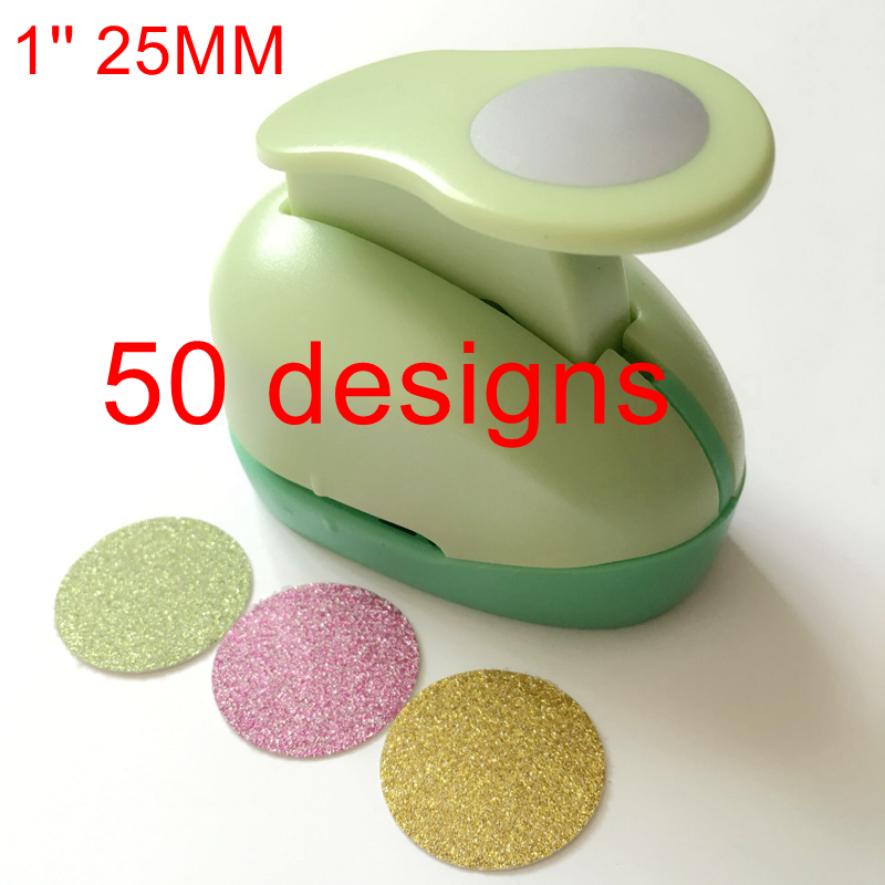 1'' Circle punch 25mm diy craft hole puncher for scrapbooking punches eva maker Kids scrapbook paper cutter Embossing sharper diy printing paper cutter embossed instrument album accessories scrapbooking machine kids craft gift hole puncher dd1462