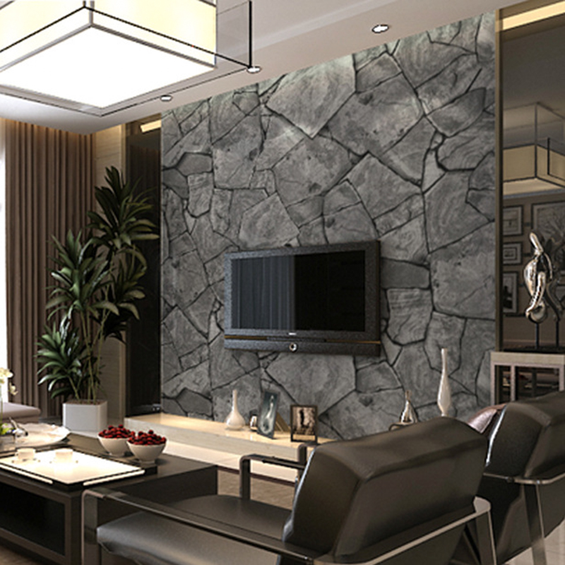 3D Stereoscopic Stone Brick Wall Wallpaper for Walls 3 D Living Room Vinyl Roll Mural Waterproof TV Background Home Improvement retro gray 3d brick wall paper modern wallpaper stone background wallpaper for living room tv background wallpaper