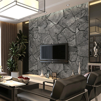 3D Stereoscopic Stone Brick Wall Wallpaper For Walls 3 D Living Room Vinyl Roll Mural Waterproof
