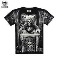 Men T Shirt 2015 New Fashion Brand Men S Casual 3d Printed T Shirt Five Size