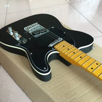 Hot Sale black tel electric guitar caster new style details on show high quality tl guitar Real photo shows