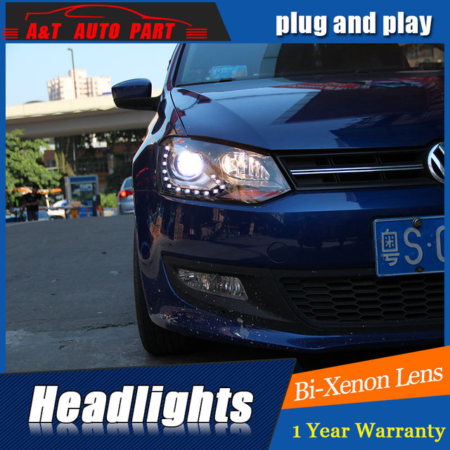 Auto Verlichting Stijl LED Head Lamp voor VW Polo GTI led koplampen ...