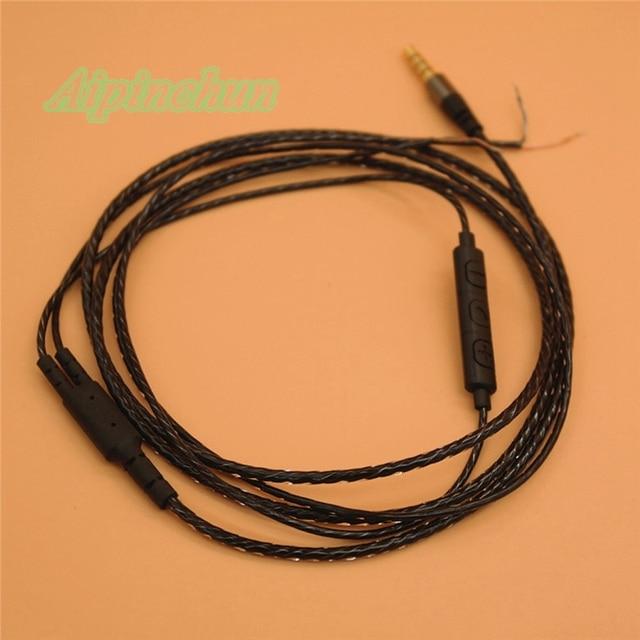 Aipinchun 35mm 4 Pole Jack DIY Earphone Audio Cable with Volume