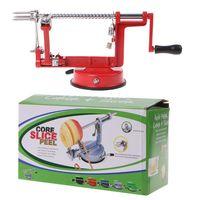 Aço inoxidável 3 em 1 descascador de frutas descascador de maçã máquina de corte máquina de frutas descascadas ferramenta|Descascadores elétricos| |  -