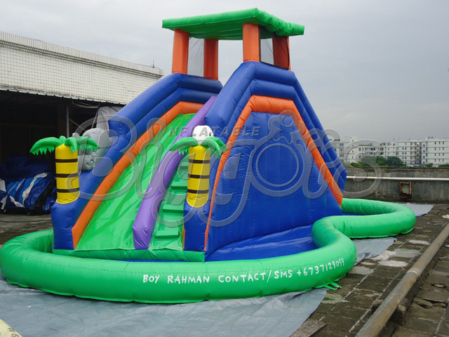 FREE SHIPPING BY SEA Cheap PVC Commercial Inflatable Slide ,Inflatable Slide With Pool