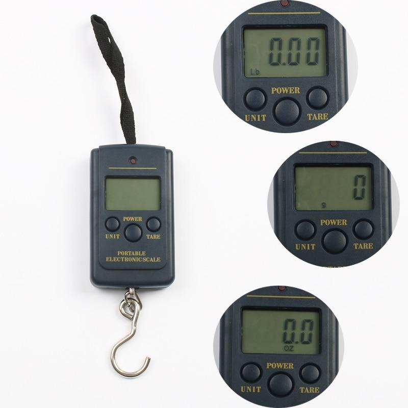 RUADLER 50kg/10g Portable LCD Display Digital Hanging Scales