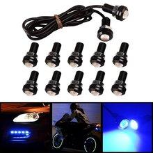 10 x Eagle Eye 18mm Motor Car 9W LED Daytime Running DRL Tail Backup Ultra Blue Bulbs