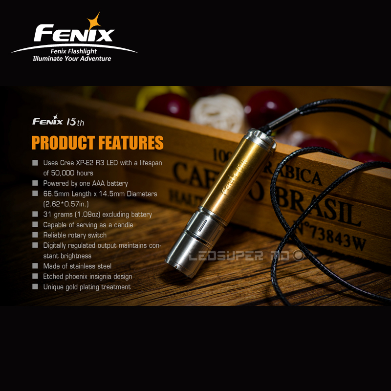 New Arrival Extremely Limited Edition Fenix 15th Anniversary Flashlight with Free AAA Battery deep purple deep purple stormbringer 35th anniversary edition cd dvd