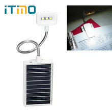 ITimo Mini LED Solar Book Light Reading Portable Clip on Book Reading Lamp with USB Interface Eye Protection Multi-use Lamp(China)