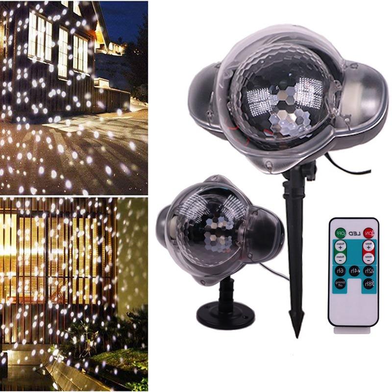 Neige de noël projecteur LED en mouvement neige jardin extérieur pelouse Laser projecteur lampe noël flocon de neige décor pour fête de noël