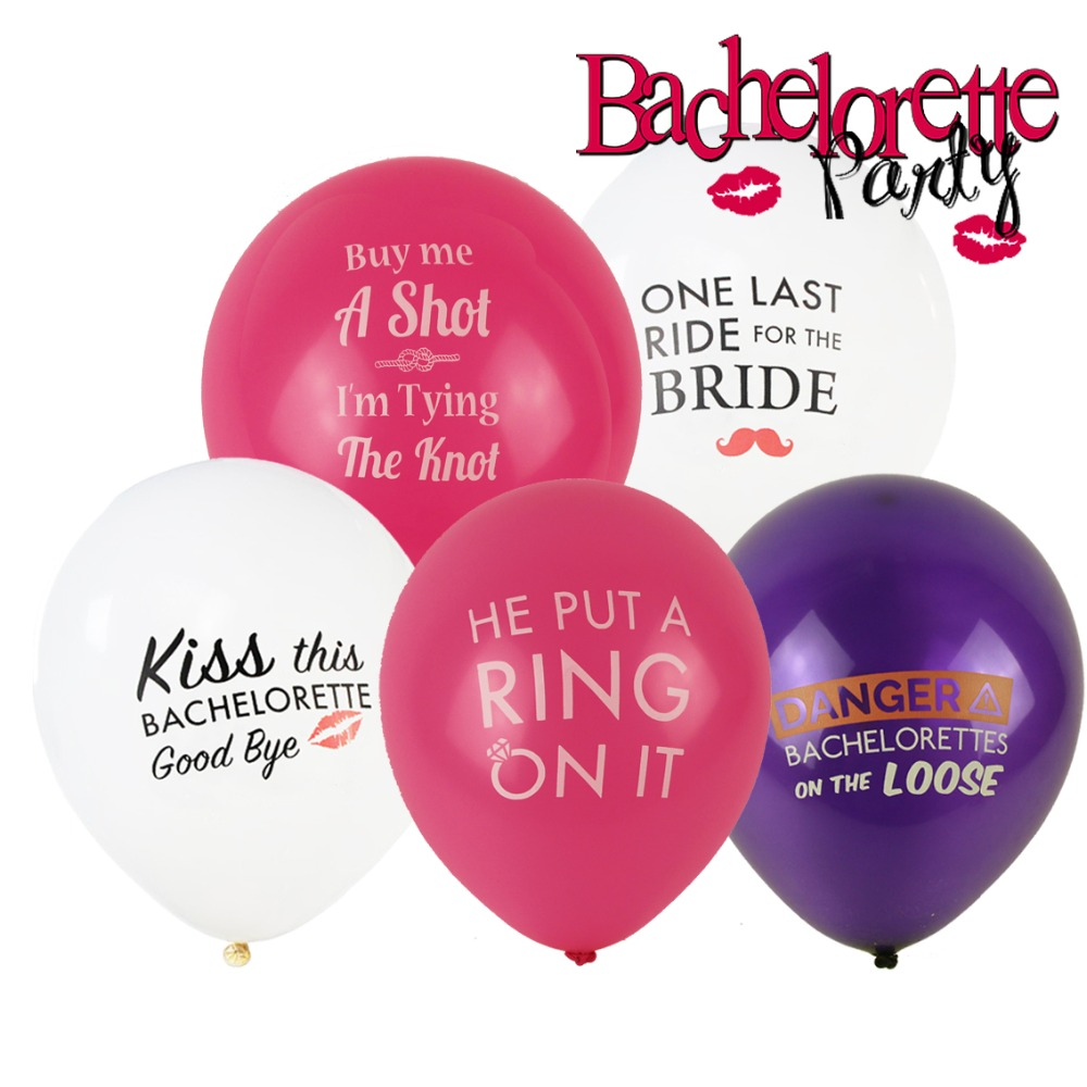 Hen Party Ideas For Small Groups: 10Pcs Bachelorette Hen Party Decorations Balloons Cheers