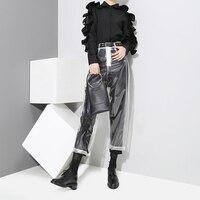 PVC Plastic Transparent Trousers Catwalk Models TPU Waterproof Pants Female Pantalon Femme Streetwear 2018 Autumn Women Fashion