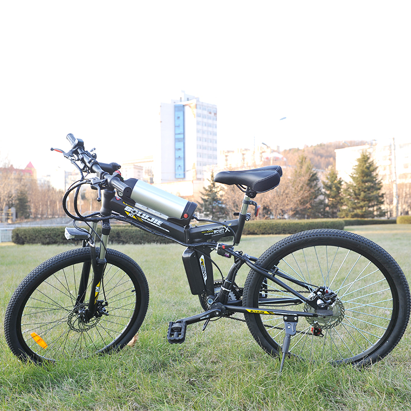 26 inch Electric Bicycle 36V/48V Lithium Battery Electric Mountain Bike 350W/500W Motor Foldable E Bike Mountain Bicycle