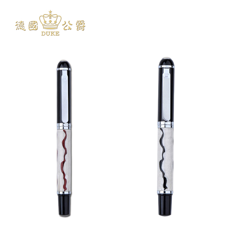 High Quality Duke Rollerball Pen Black Ink Medium Refill Student Writing Pens Office and School Supplies with An Original Box