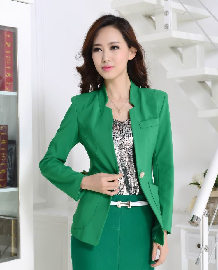New Elegant Green Formal Uniform Style Professional ...