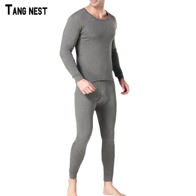 Tangnest 2017 sólido de los hombres delgado cómodo long johns suave ocasional masculina 90% algodón otoño desgaste largo johns underwear nbt057