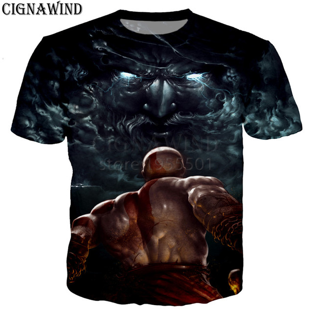 God of War 3D printed t-shirts unisex 1