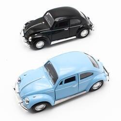 1:32 литья под давлением мини-мигающий музыкальный отступить сплав Прокат автомобиля Beetle со звуком и светом модель игрушки для детей