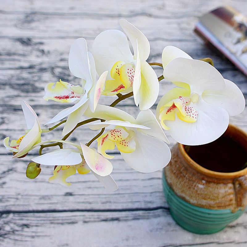 3D искусственная Орхидея, Бабочка, цветы, Искусственный Мотылек, цветок орхидеи для дома, свадьбы, сделай сам, украшение, настоящее прикосновение, домашний декор, Flore