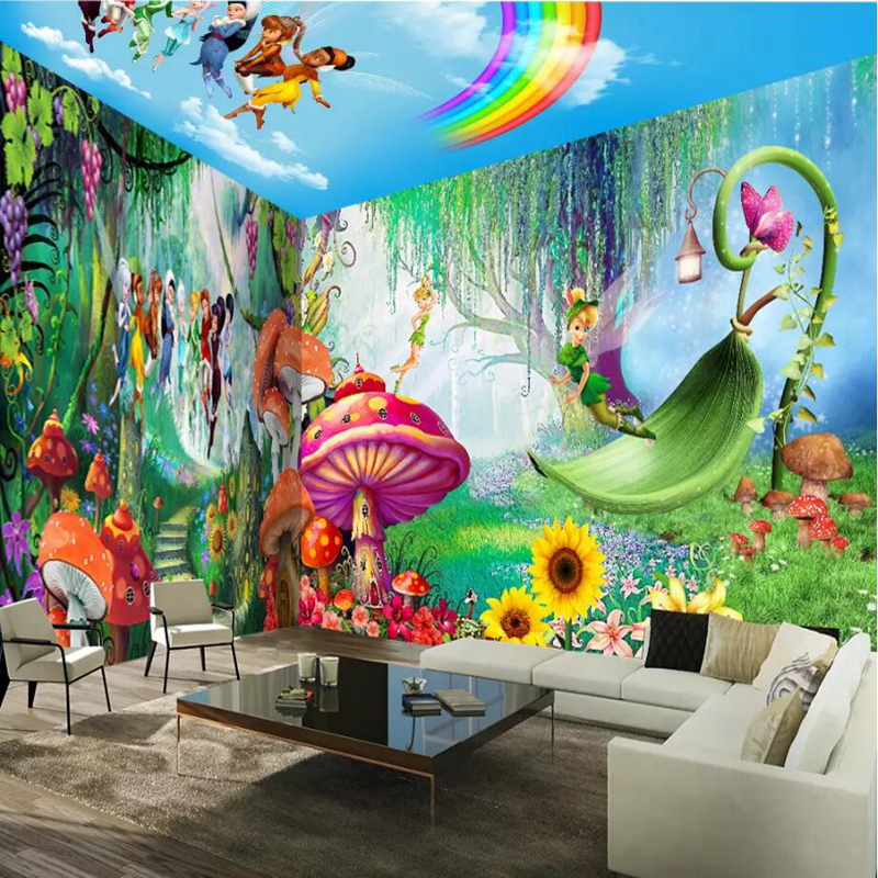 Wallpapers Modern Custom 3d Photos Hd Wall Mural Elf Boys and Girls Wallpaper for Children 39 s Bedroom 3d Wall Mural Whole House in Wallpapers from Home Improvement