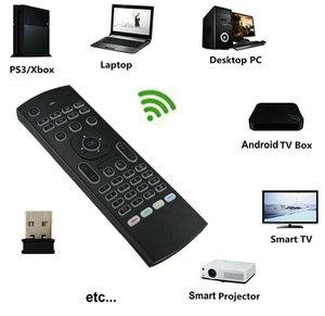 Image 2 - Tikigogo 2.4G MX3 Pro arkadan aydınlatmalı hava fare klavye rusça sesli 5 IR öğrenme Android akıllı TV kutusu dizüstü PC uzaktan kumanda